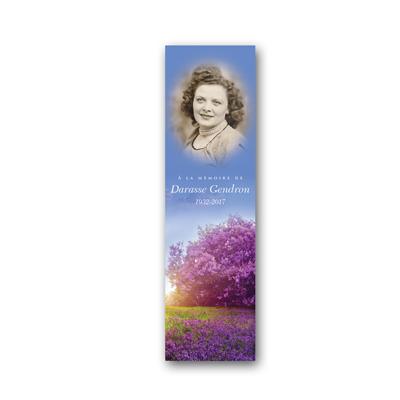 Signet pleine image portrait - Moyen / Full image portrait bookmark - Medium